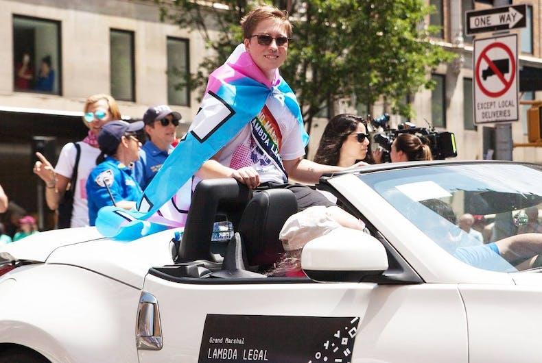 Lambda Legal, Drew Adams, transgender