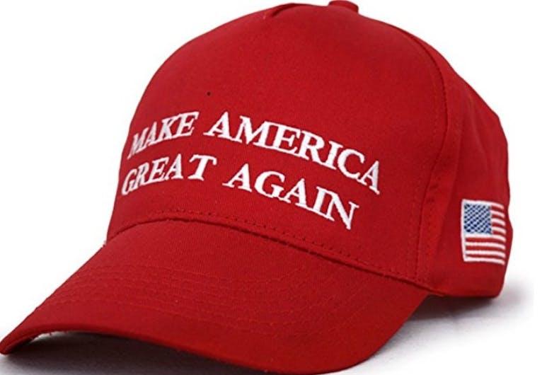 A MAGA hat