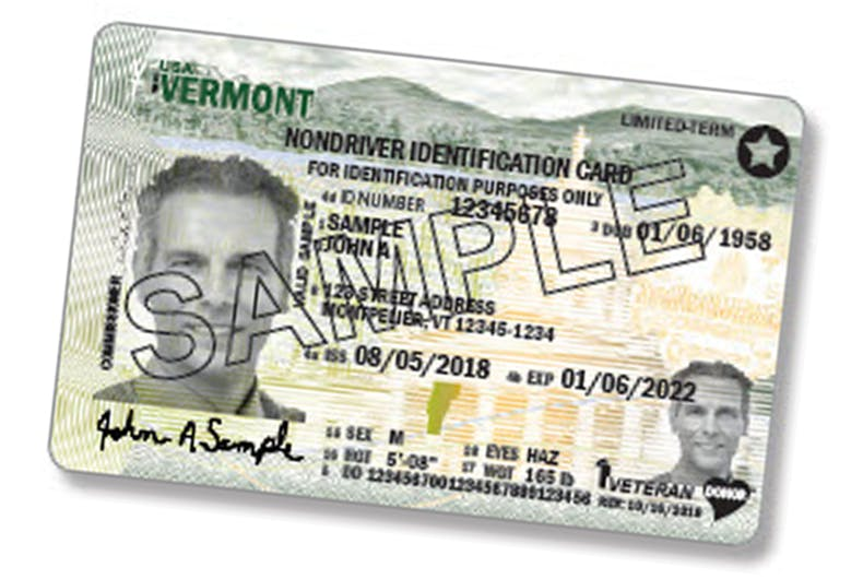 Vermont Driver's License Sample