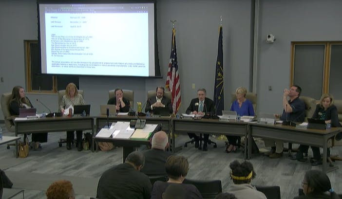 Parents storm out of school board meeting after a member makes vile comments about trans students