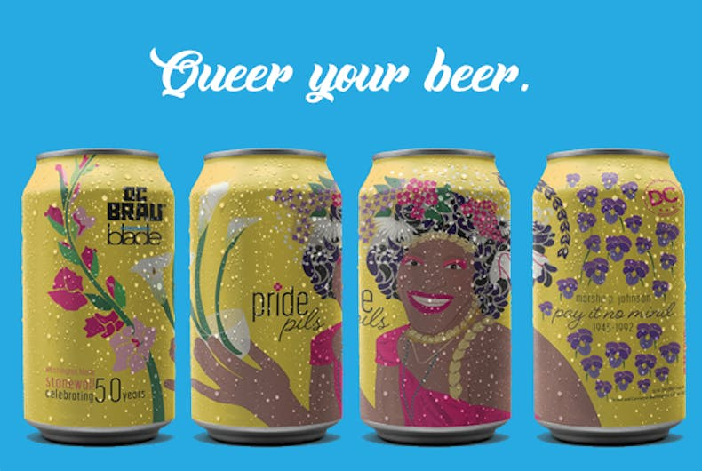 The beers with the Marsha P. Johnson art