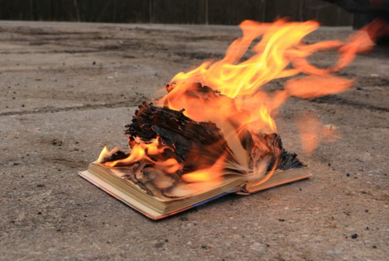 A book burning