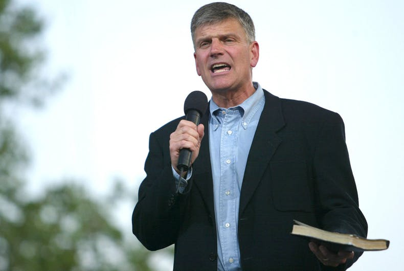 Franklin Graham, Pete Buttigieg