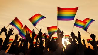 Someone tore down & burned a southern couple's rainbow flag. Now everyone is putting them up.