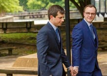 Mayor Pete kissed his husband after he announced his campaign & it brought LGBTQ people to tears