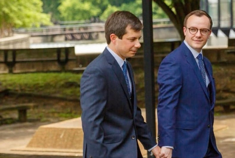 Image result for buttigieg pete and chasten