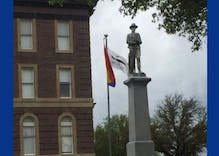 This town's Confederate flag was taken down. So they 'vandalized' the flagpole with a rainbow flag.