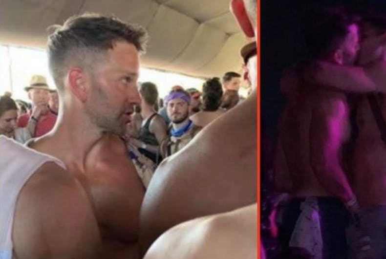 Former GOP Congresman Aaron Schock was spotted hanging out with, kissing, and groping gay men at the Coachella music festival.