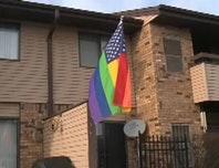 A gay couple may get evicted for flying a rainbow flag outside of their apartment