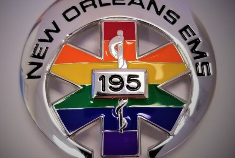 The City of New Orleans' Emergency Medical Services workers will wear commemorative badges to recognize Pride month