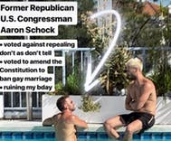 Antigay former Congressman Aaron Schock busted trying to pick up a guy in West Hollywood