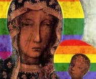 Woman arrested for blasphemy after painting the Virgin Mary with a rainbow halo