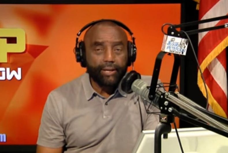 Jesse Lee Peterson on his radio show
