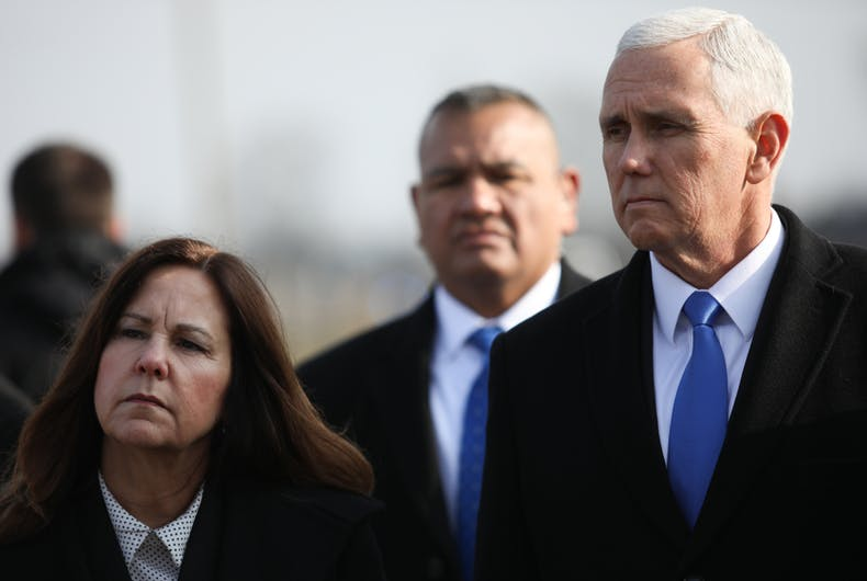 Karen and Vice President Mike Pence