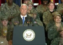 Sailors were told to 'clap like you're at a strip club' for Mike Pence