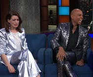 Stephen Colbert surprised Anne Hathaway by helping her meet RuPaul. She broke down in tears.