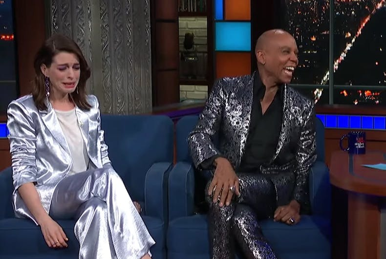 Anne Hathaway and RuPaul