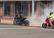 Bikers who burned rubber on a rainbow crosswalk could face hate crime charges