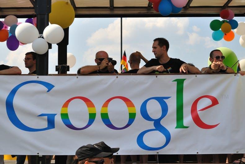 Google Pride float