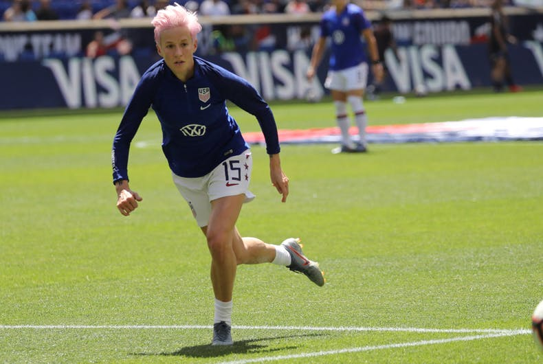 Megan Rapinoe, lesbian soccer player, LGBTQ, Women's World Cup