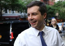 Pete Buttigieg takes a solid lead in Iowa with 25% support