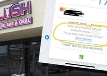 Customer called 'fat' & 'gay' on a restaurant receipt. Owner says it wasn't 'personal.'
