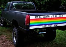 Straight man's pickup truck goes viral for supporting Pride in rural Oklahoma