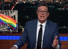 No, Stephen Colbert will not be celebrating pride with the corpse of Jerry Lewis