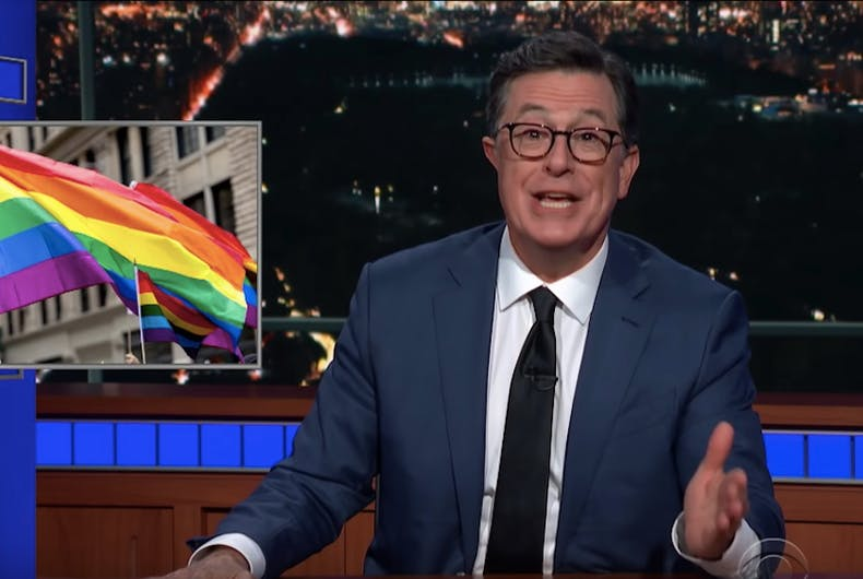 Stephen Colbert, Pride, LGBTQ, gay, parade, Jerry Lewis, Jenny Lewis