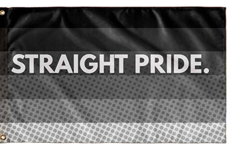 A straight pride flag