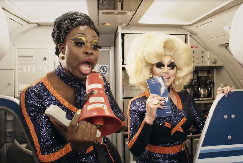 Trixie Mattel, Bob the Drag Queen, JetBlue, commercial, Pride, advertisement, ad, drag queens, RuPaul's Drag Race