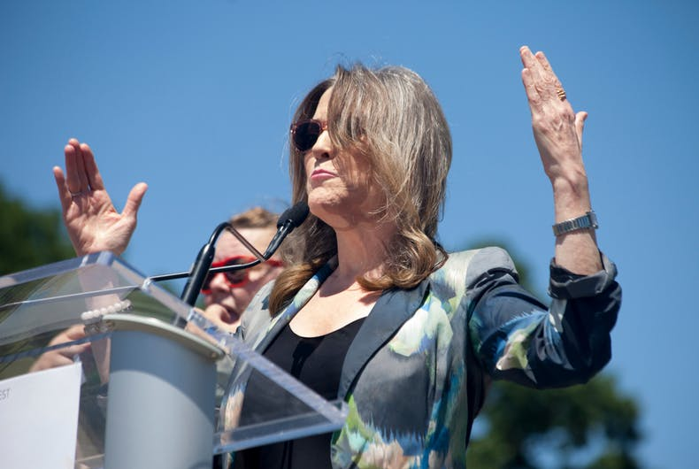 June 8, 2019. Author, lecturer and Presidential Candidate Marianne Williamson speaks at the Capital City Pride Festival Meet the Candidates forum in Des Moines, Iowa