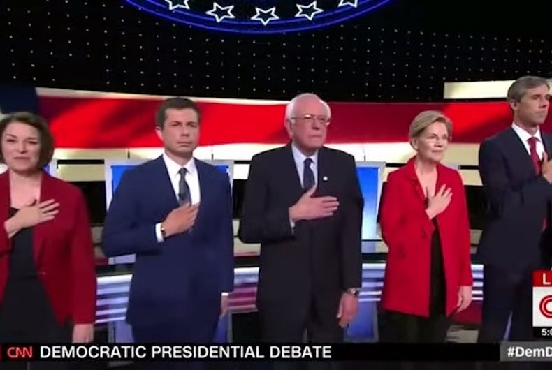 Last night's Democratic debate was really about the future of the party
