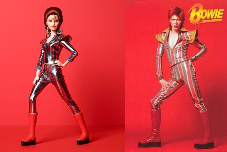 Mattel has released a new Barbie based on David Bowie's Ziggy Stardust persona