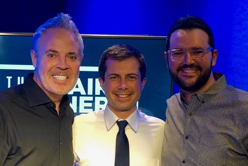 Blair Garner and Pete Buttigieg