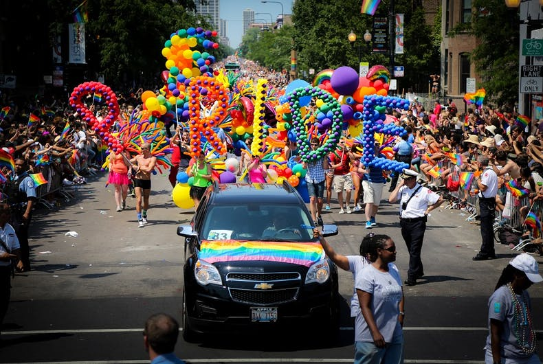Scene from 2012 Chicago Pride