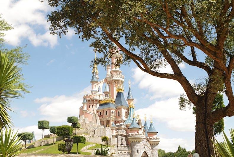The castle at Disneyland Paris