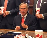 This governor surrounded himself with Chick-fil-A when he signed an anti-LGBTQ bill
