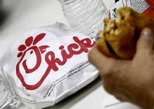 A minor league baseball team celebrated their Pride Night with free Chick-fil-A sandwiches