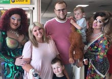 This family accidentally boarded a Pride flight & had a fabulous time