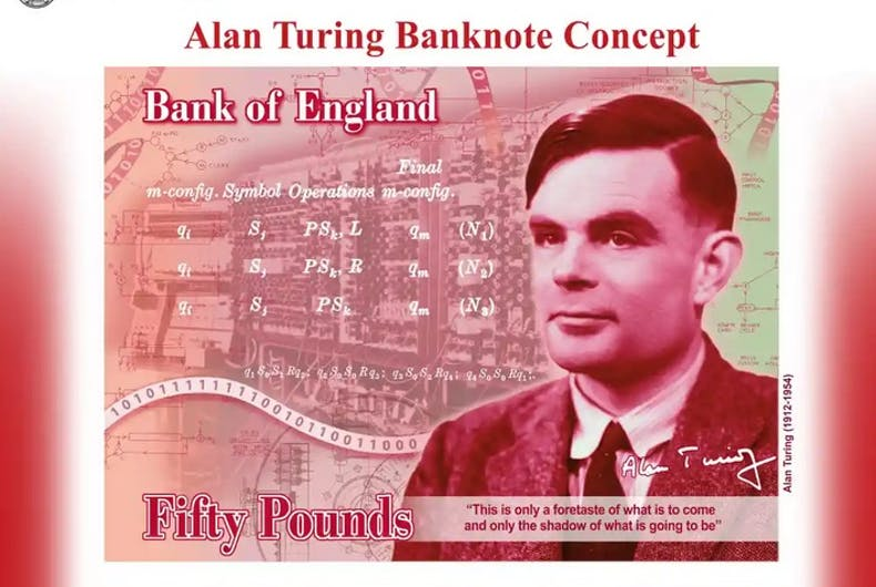 A mock-up of the bank note.