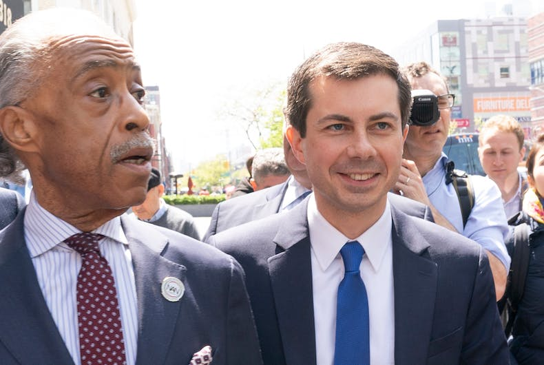 Pete Buttigieg, Al Sharpton, police, race, racism, violence, South Bend Indiana