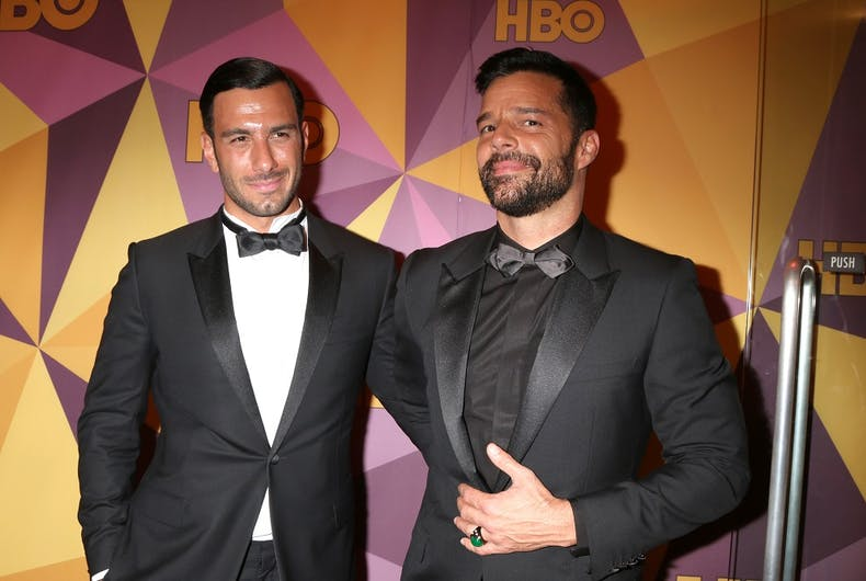 Ricky Martin and his husband