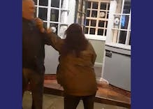 Watch this gay man handle a drunk woman screaming slurs like the true queen he is