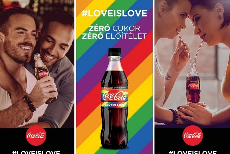 The posters from Coca-Cola