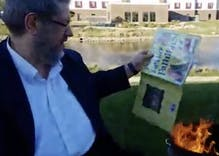 Man who burned LGBTQ library books will pay a tiny fine & he has no remorse