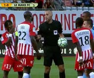A referee stopped a soccer match because of a homophobic chant