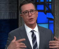 Stephen Colbert blasts straight men who think recycling is gay
