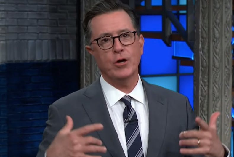 Stephen Colbert, gay recycling