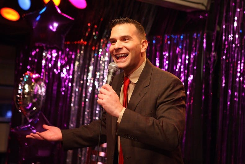 Adam Sank performs during Bait and Swish comedy show in Cape May.
